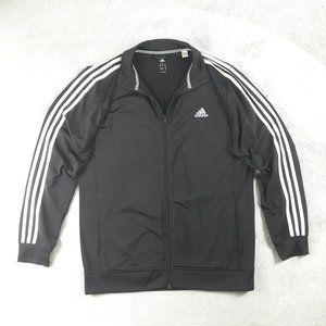 Adidas Essential Three Stripe Track Jacket Black L